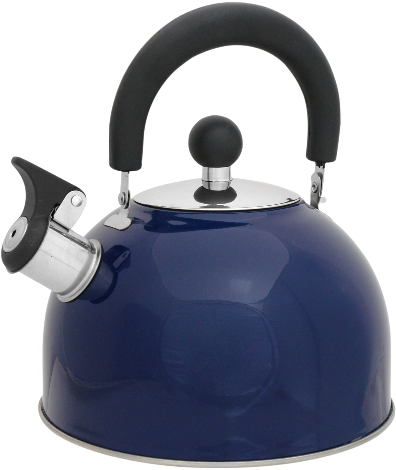 Чайник Mallony MAL-039-B, со свистком, цвет: синий, 2,5 л чайник mallony mal 105 n 3л нерж сталь цельнометал со свистком черный