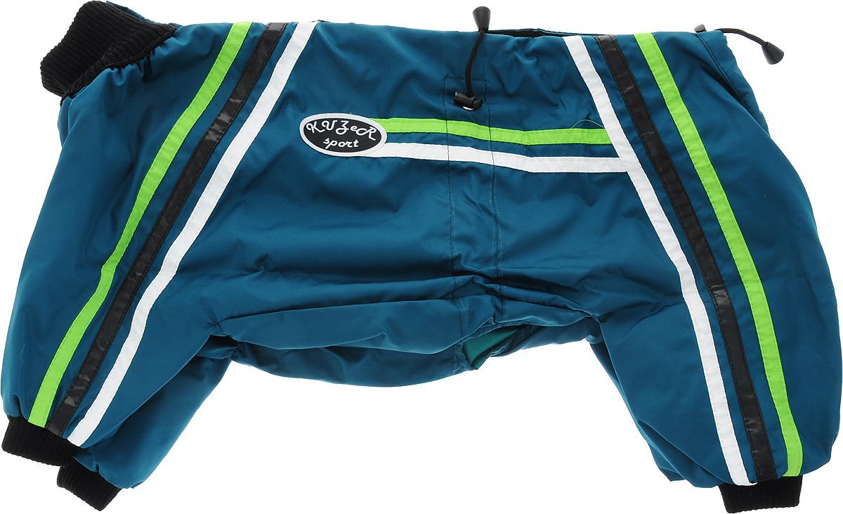 """Одежда для собак Kuzer-Moda """"Спринт"""", комбинезон унисекс, двухслойный, KZ003385, темно-зеленый, размер 27"""