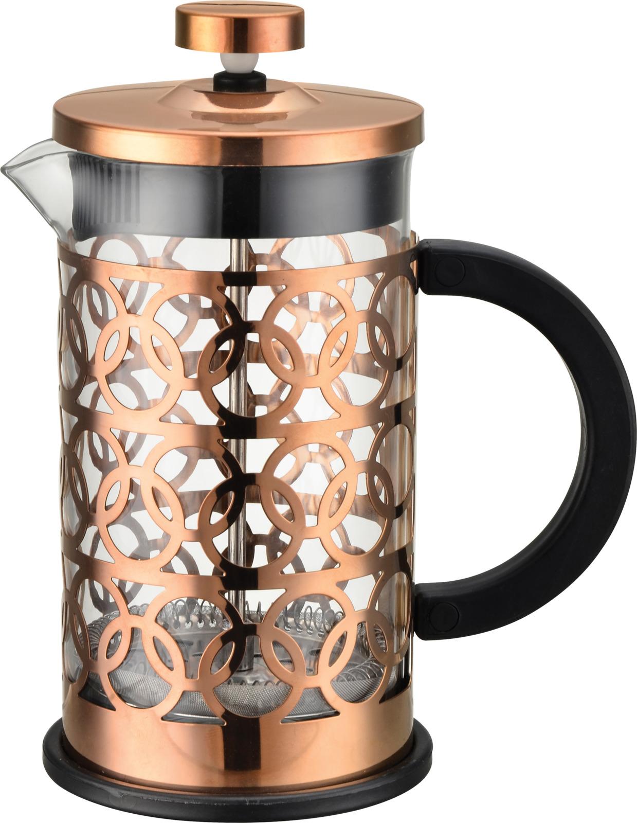 Кофе-пресс стеклянный Mallony Bronzo, 600 мл недорго, оригинальная цена