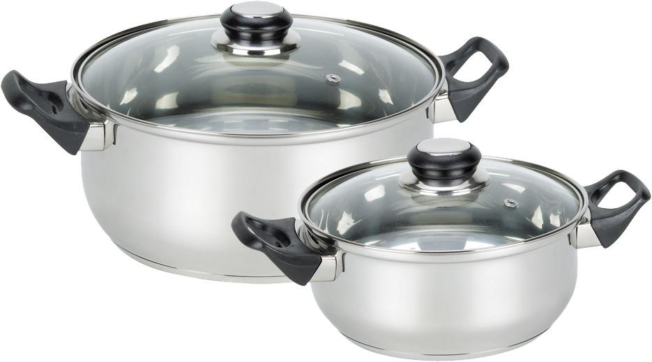 Набор посуды Mallony, цвет: серебристый, 4 предмета соковарка mallony juicer 6л 3 чаши нерж сталь