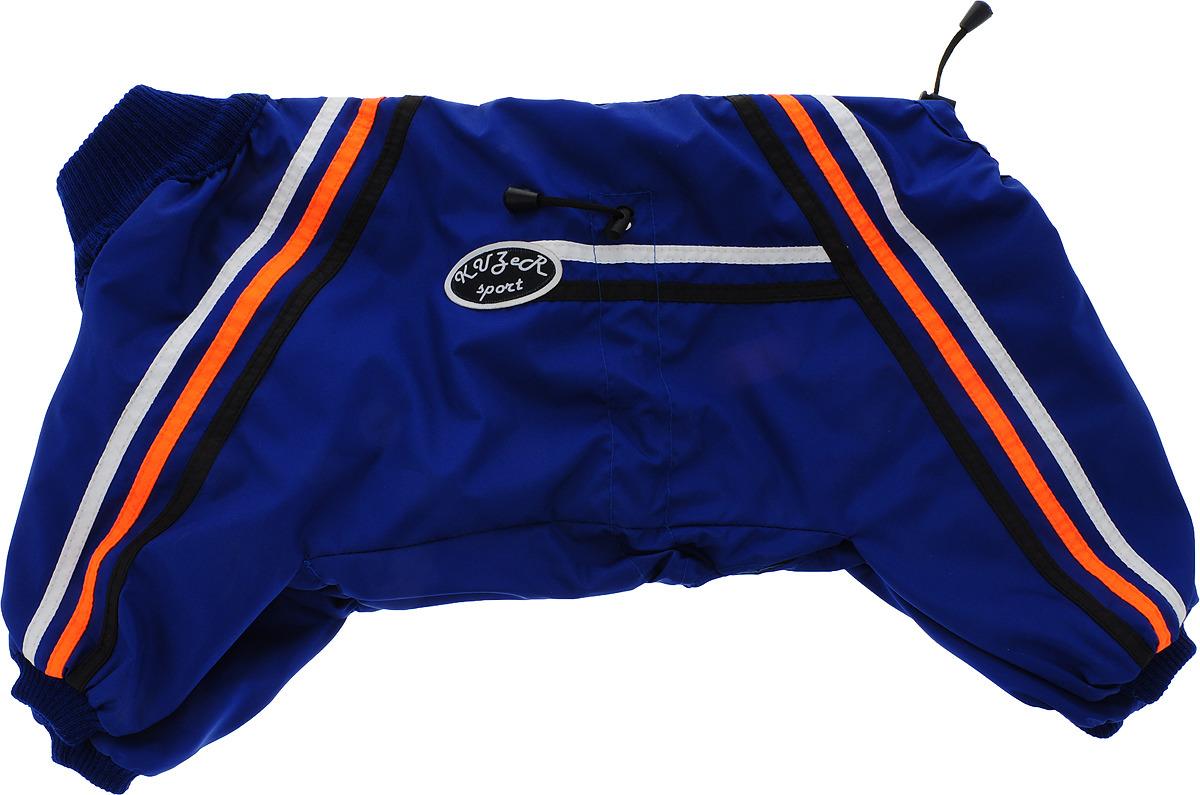 """Одежда для собак Kuzer-Moda """"Спринт"""", комбинезон унисекс, двухслойный, KZ003385, королевский синий, размер 27"""