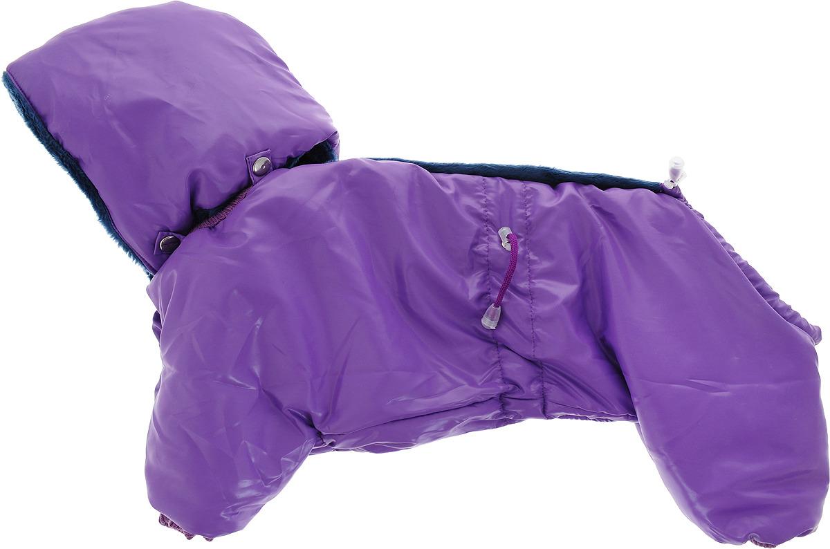 "Одежда для собак Kuzer-Moda ""Полярник"", комбинезон зимний, унисекс, KZ001808, сиреневый, размер L"