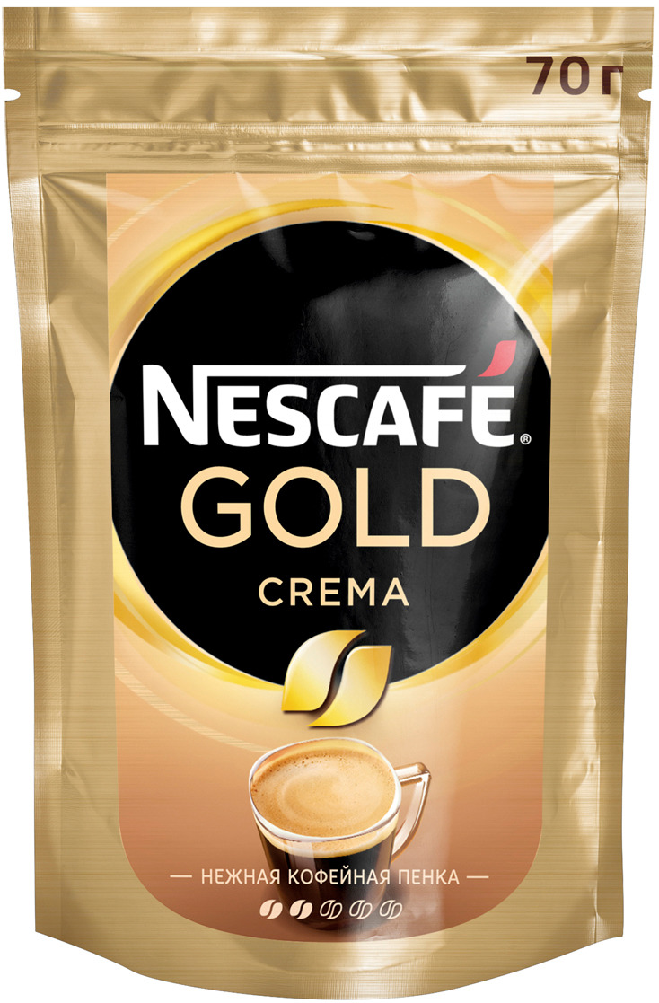 Nescafe Gold Crema кофе растворимый, 70 г nescafe classic crema кофе растворимый 70 г пакет