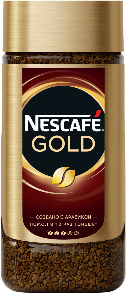 Nescafe Gold Кофе растворимый сублимированный с добавлением натурального жареного молотого кофе, 190 г