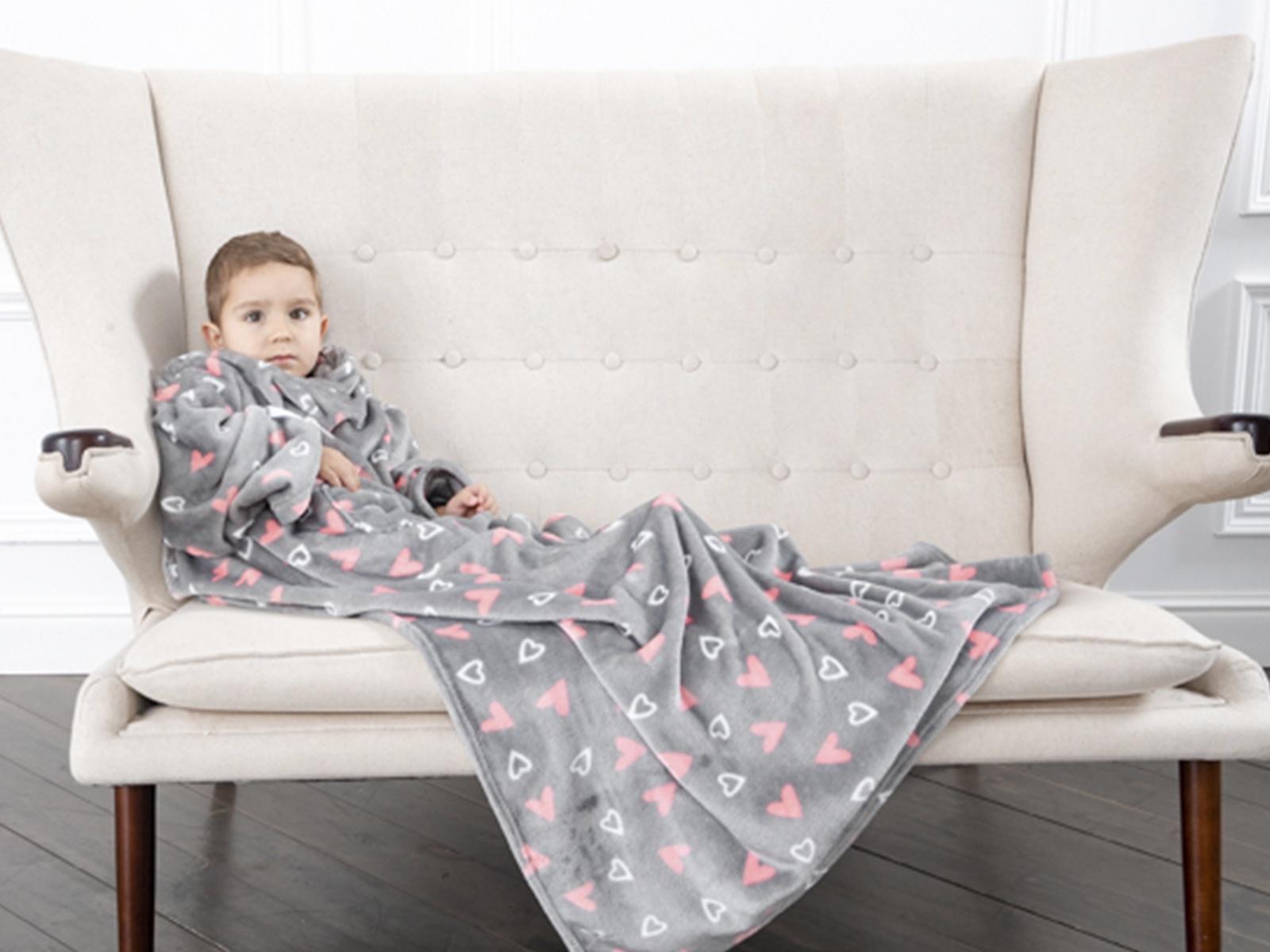 Плед Sleepy Kids с рукавами, цвет: серый, 90х140 см. 2451