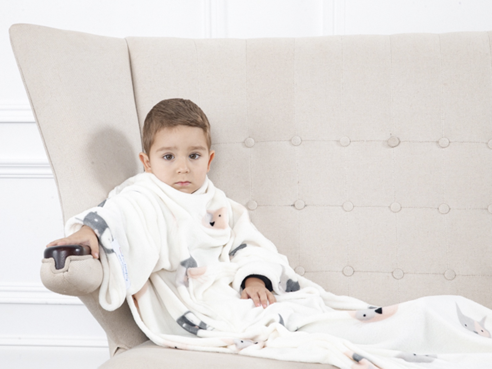 Плед Sleepy Kids с рукавами, цвет: белый, 90х140 см. 2468