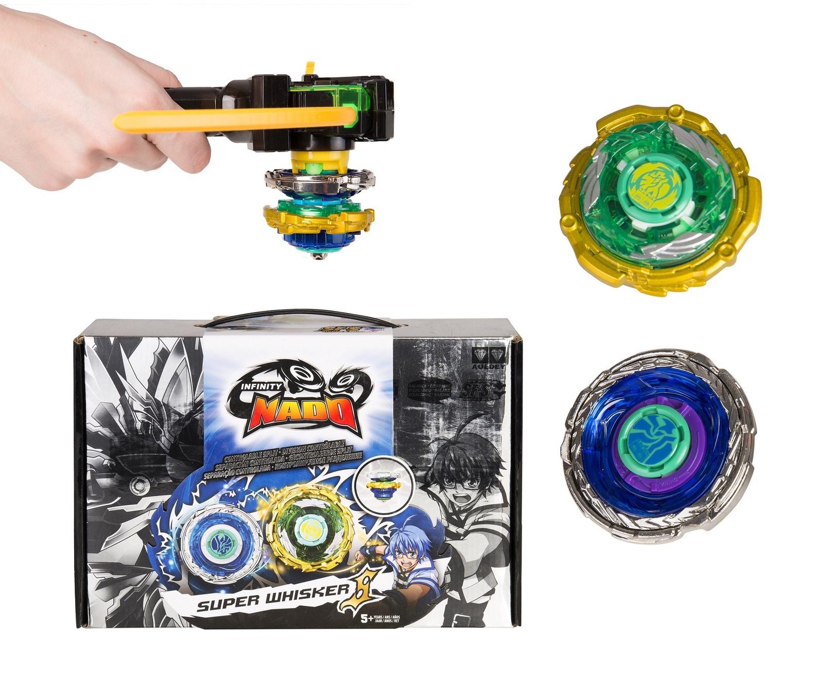 Пусковая игрушка Инфинити Надо Волчок Super Whisker, серия Крэк