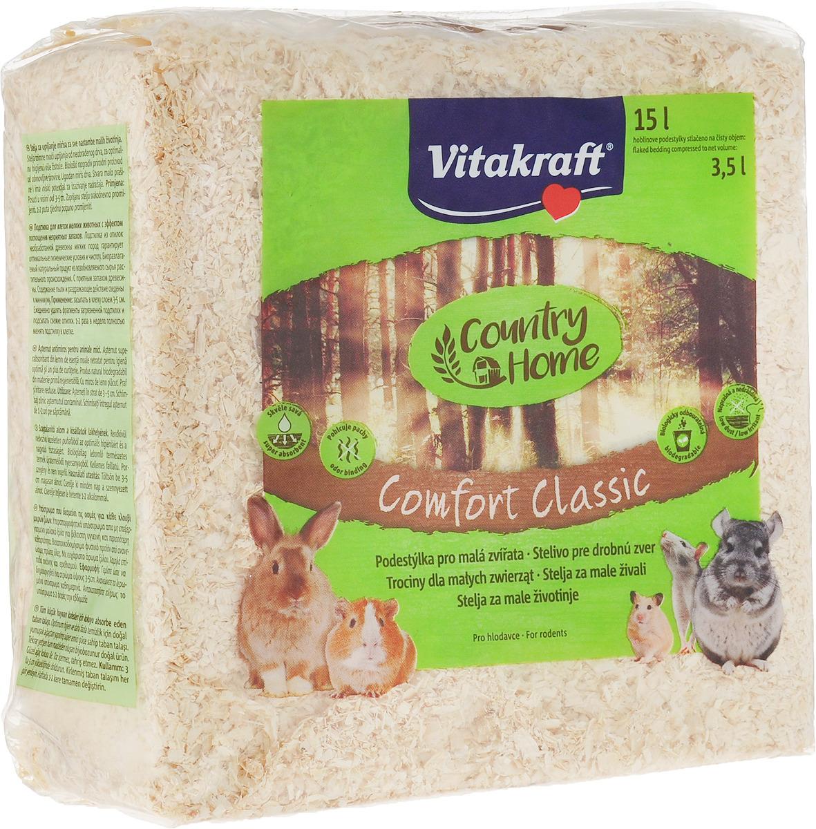 Опилки для грызунов Vitakraft Comfort Classic, 15 л опилки для животных найси 15 л