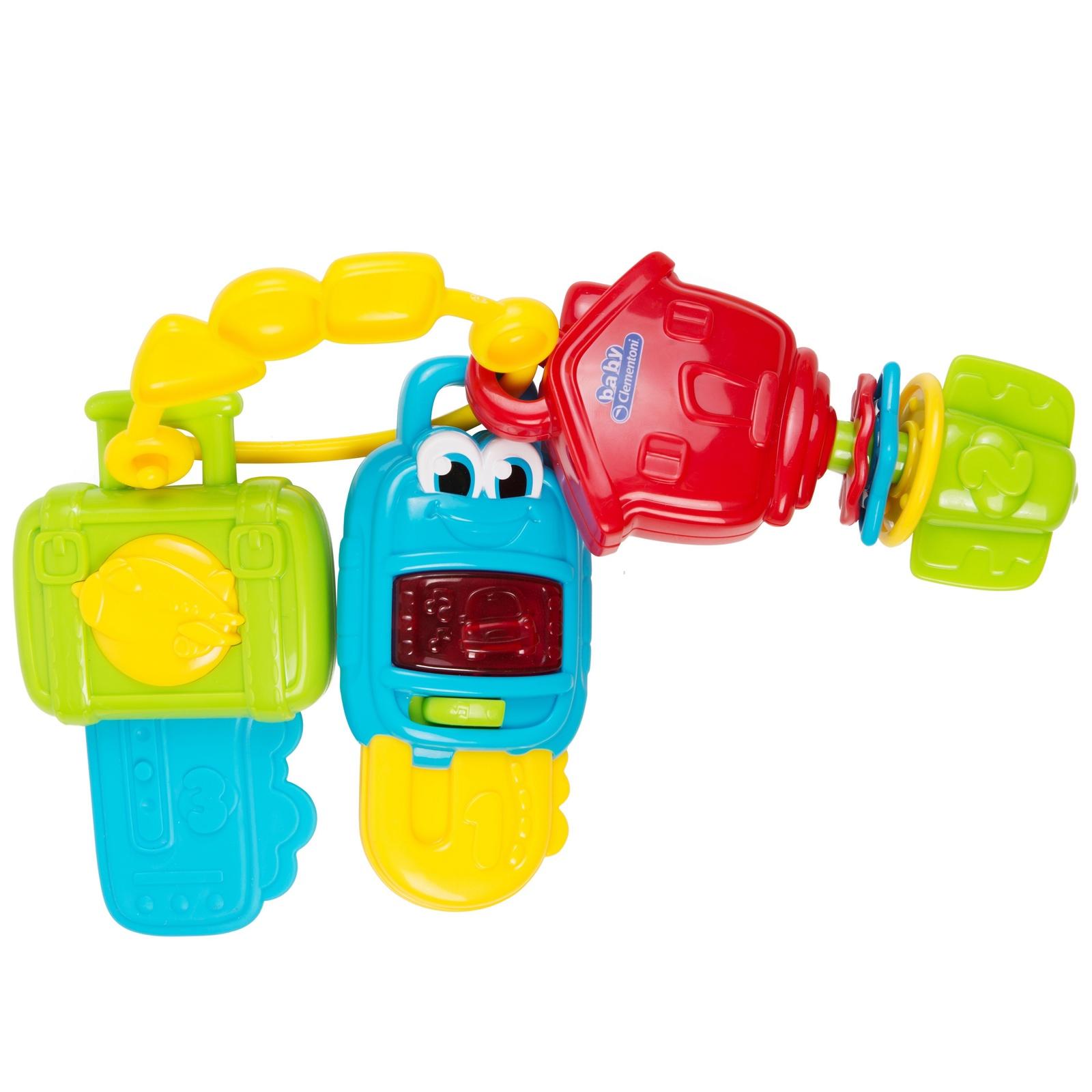 """Интерактивная игрушка Клементони Игрушка """"Музыкальные ключики"""" красный, зеленый, желтый"""