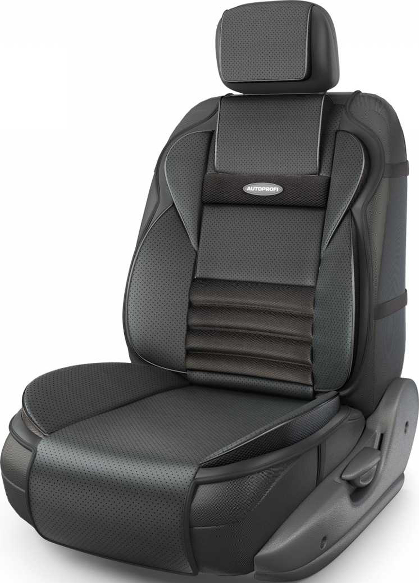 Накидка на сиденье Autoprofi Multi Comfort, ортопедическая, 6 упоров, 3 предмета. MLT-320G BK