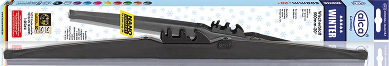 Щетки стеклоочистителя Alca, специальная, каркасная, зимняя, 16/40 см щетки стеклоочистителя alca super flat maxx 450mm 250180