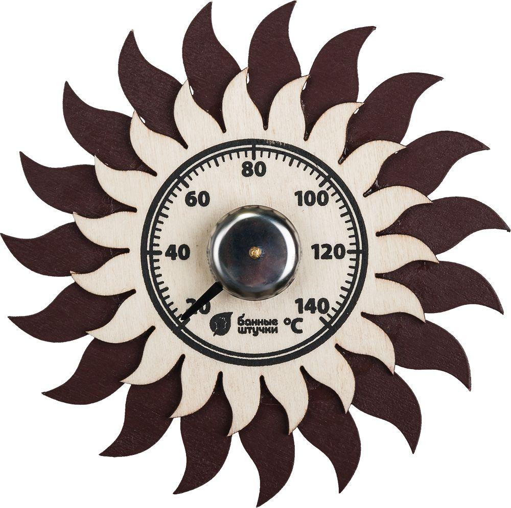 Банный декор термометр Банные штучки Солнышко, 13 х 13 см банный декор банные штучки аксессуары для бани белый