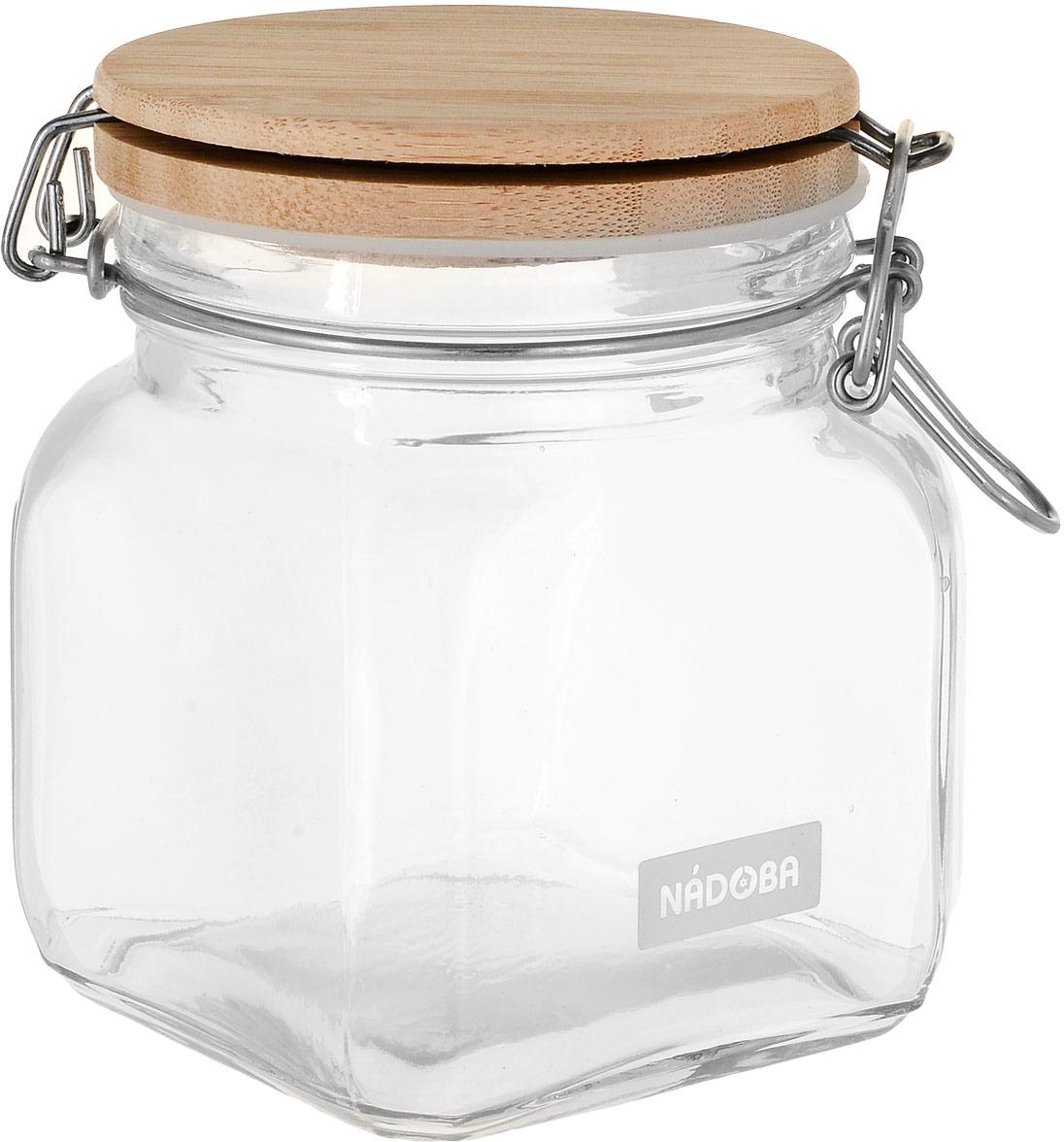 Емкость для сыпучих продуктов Nadoba Dasa, с крышкой с замком, 0,7 л емкость для сыпучих продуктов nadoba dasa 1 2 л