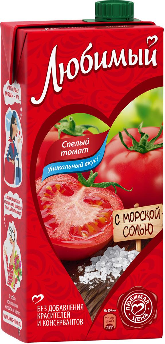 Любимый Томат с солью нектар с мякотью, 1,93 л