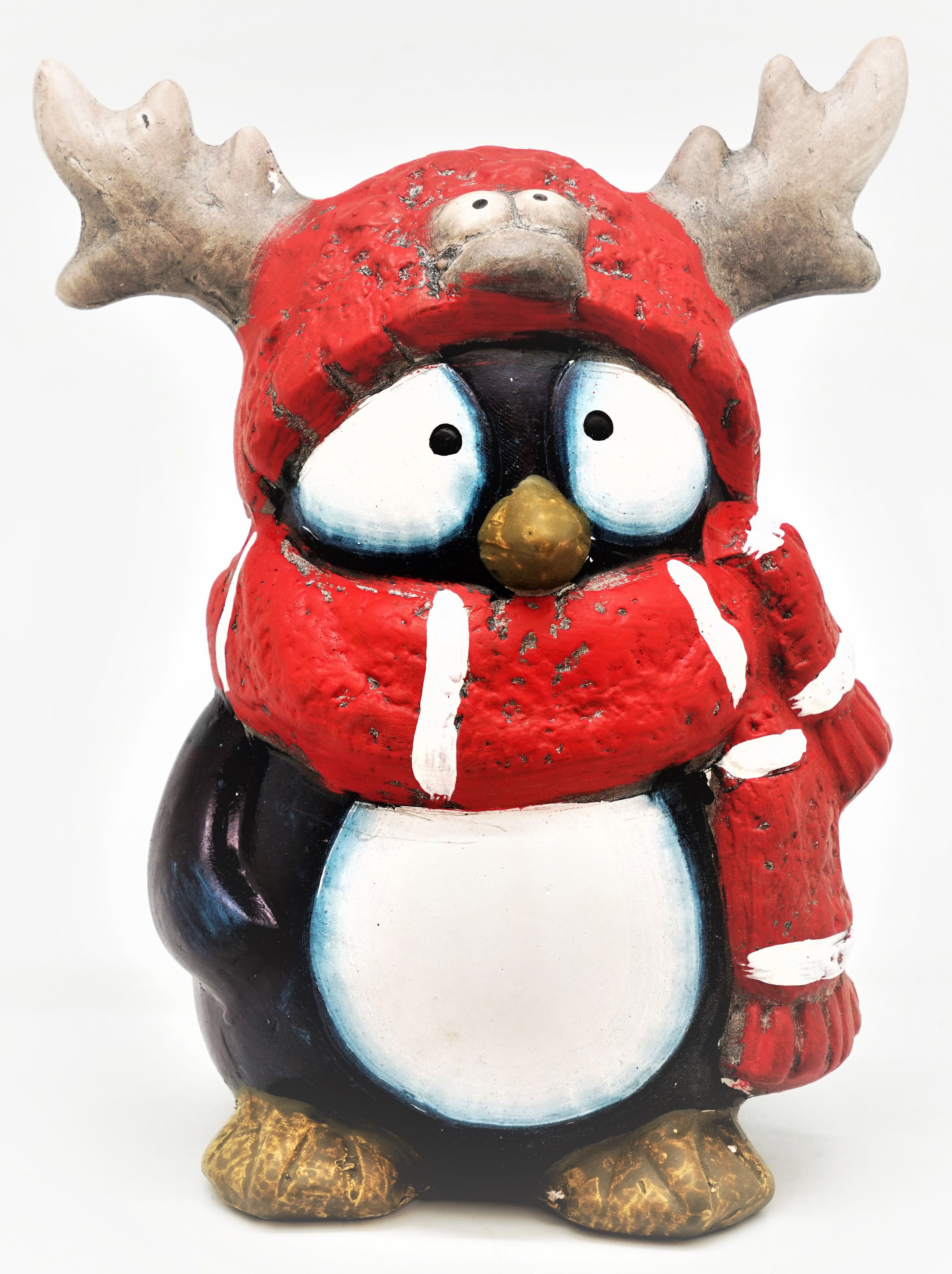 цена на Копилка Яркий Праздник Пингвин рогатик, 13,5 х 10,5 х 17,5 см