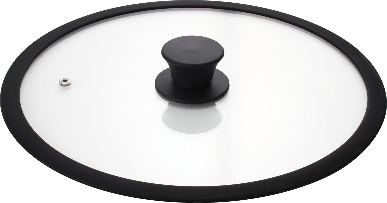 Крышка стеклянная Mallony Cappello-C, с силиконовым ободком и ручкой, диаметр 28 см