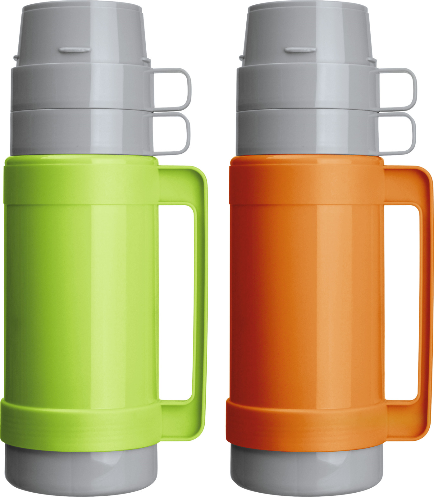 Термос Mallony Caloroso, цвет: оранжевый, зеленый, 1 л