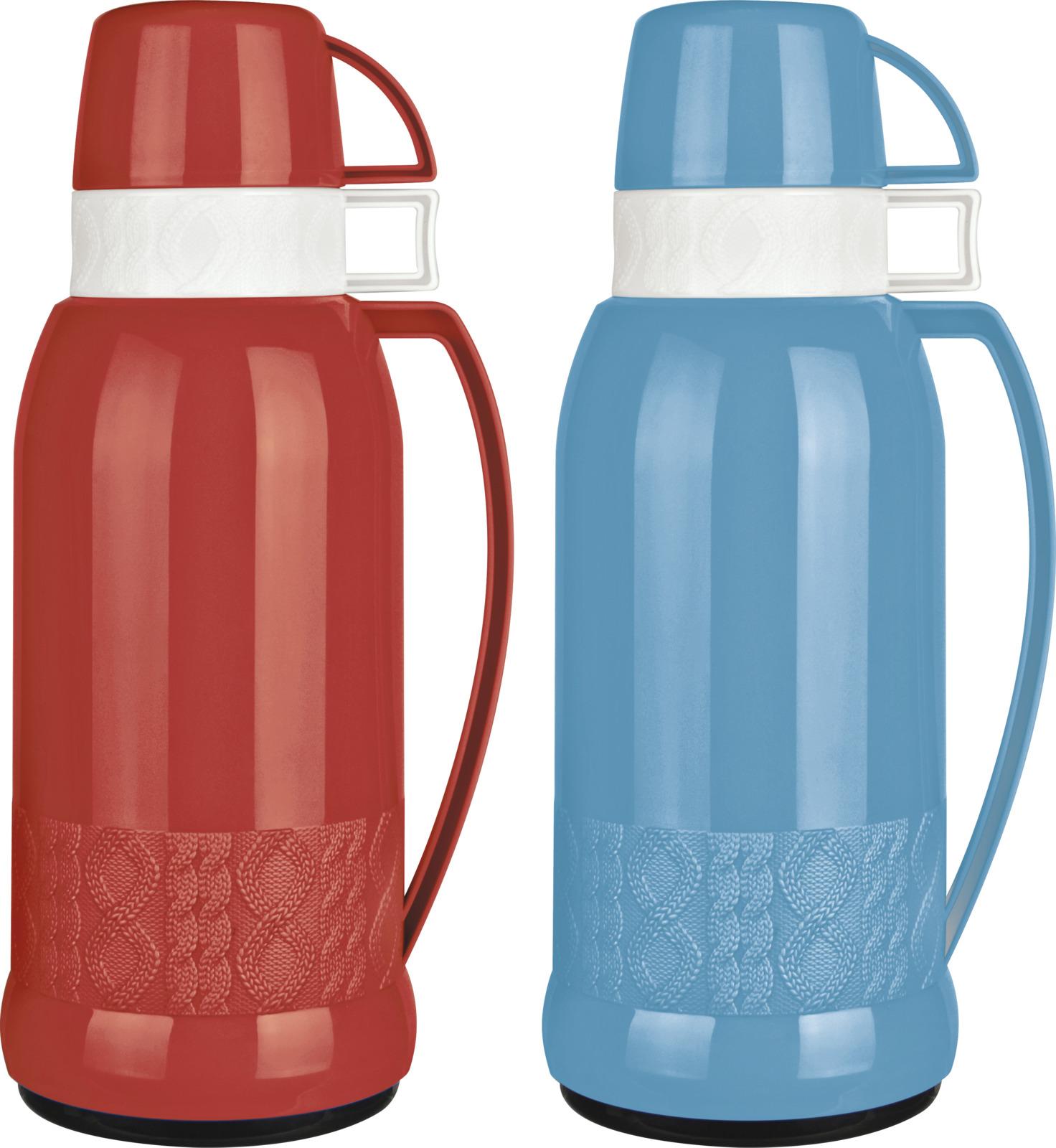 Термос Mallony Finezza, цвет: красный, синий, 1,8 л