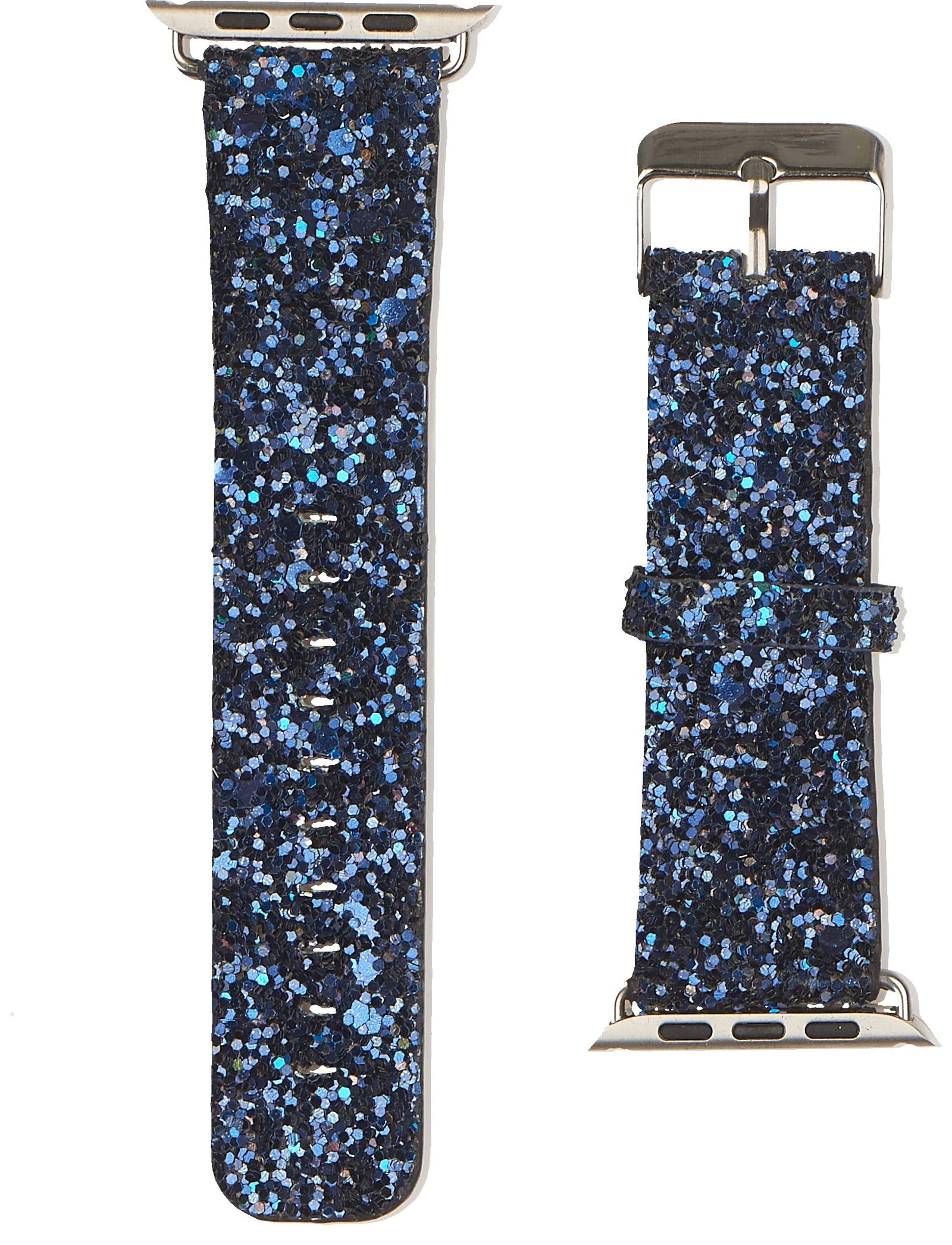 Ремешок для смарт-часов Simolina Ремешок из натуральной кожи блестящий, цвет глубокий синий для Apple Watch 42 mm, темно-синий ремешок apple sport loop для watch 38 мм темно синий