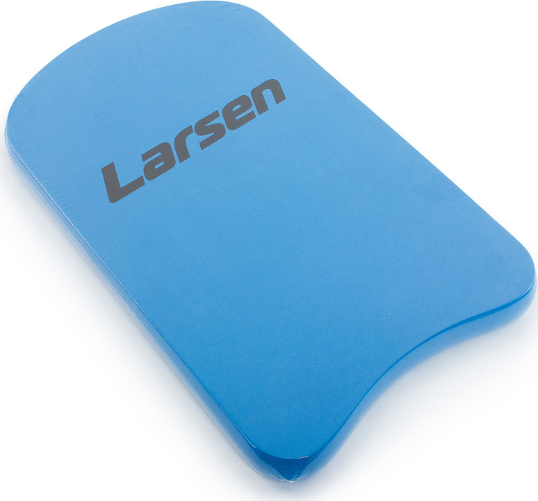 Доска для плавания Larsen КВ02, цвет: синий, 49 x 29 x 3 см форма для печенья lekue елочки цвет зеленый 25 x 18 x 3 см