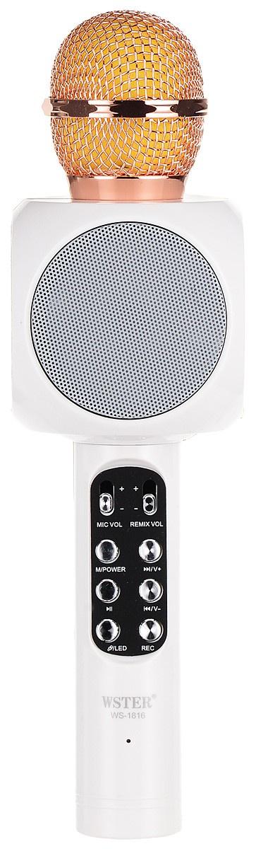 Фото - Караоке микрофон KARAOKE BOOM, KB-WS1816, белый беспроводная bluetooth колонка edifier m33bt