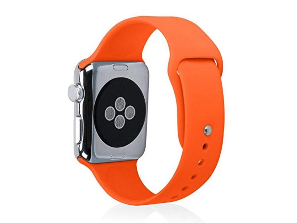 Ремешок для смарт-часов Semolina Ремешок силиконовый для Apple Watch 42 мм, GX28 оранжевый, оранжевый цена