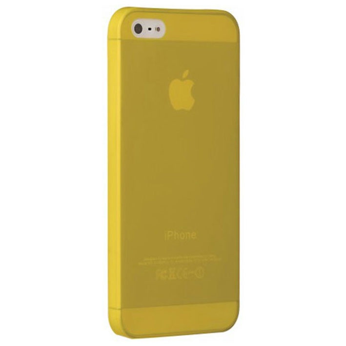 Чехол Ozaki для iPhone 5 MK-1-10, пластиковый, цвет: желтый чехол для iphone 5 5s se ozaki виноград