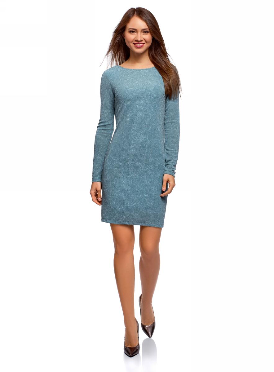Платье oodji Ultra платье oodji ultra цвет морская волна серебристый металлик 14000165 1 46124 6c91x размер s 44