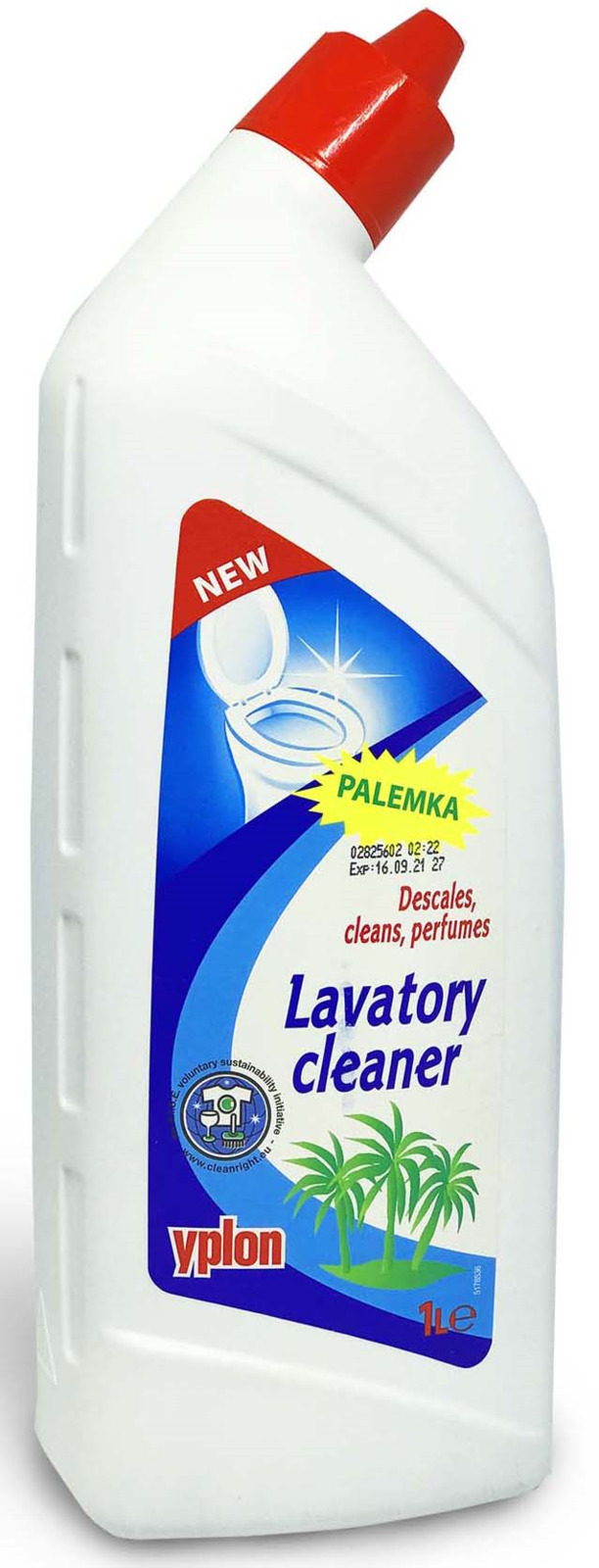 Гель для чистки унитаза Yplon Lavatory Сleaner, 1 л шампунь для чистки ковров yplon 1 л