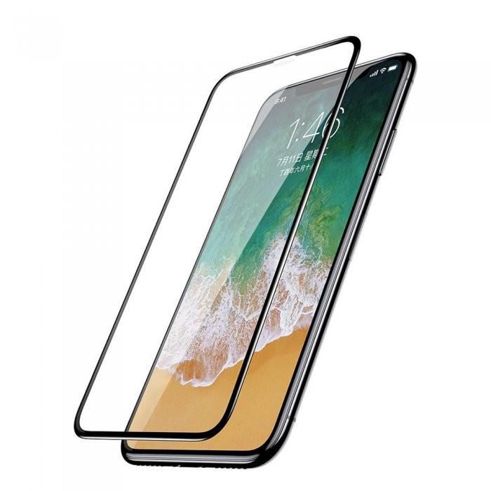 Защитное стекло Simolina для Apple iPhone XS Max 3D Full Cover, FORIPX6.5BLACK защитное стекло ubear 3d full cover gl12bl03 i10 для apple iphone x xs с рамкой черный