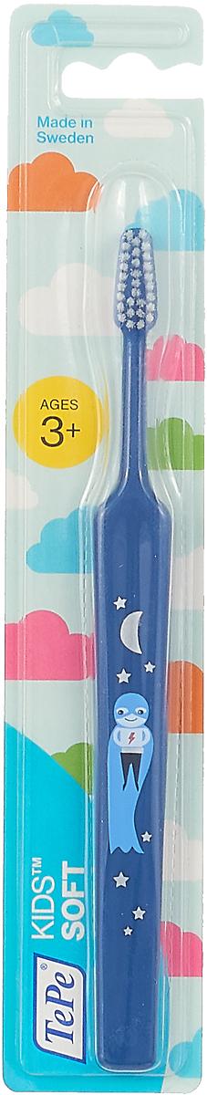 Зубная щетка детская TePe Kids, мягкая, длина 17,5 см, в ассортименте зубная щетка tepe nova с мягкой щетиной