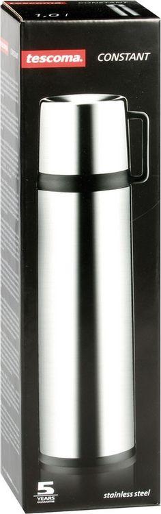 Термос Tescoma Constant, с крышкой-кружкой, цвет: стальной, черный, 0,7 л термос с кружкой tescoma family 0 5 л 310564