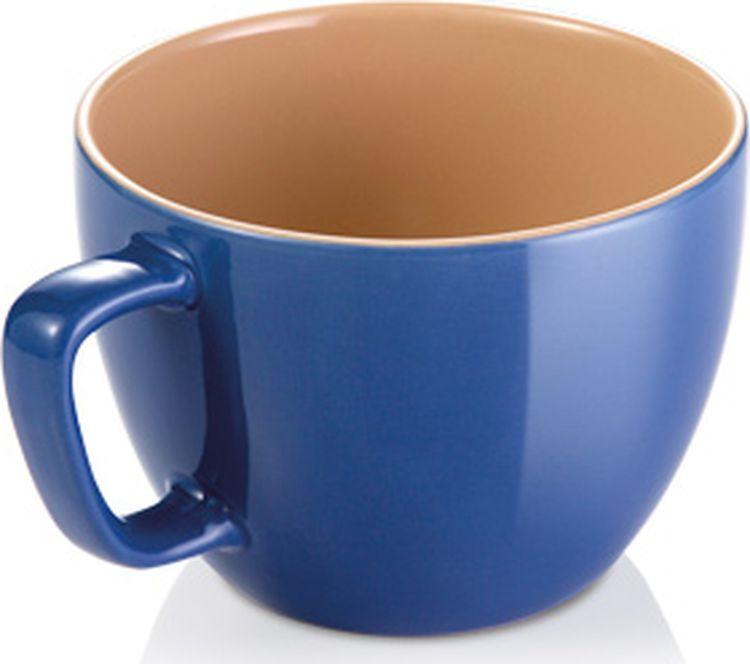 лучшая цена Кружка Crema Shine, большая, цвет: синий