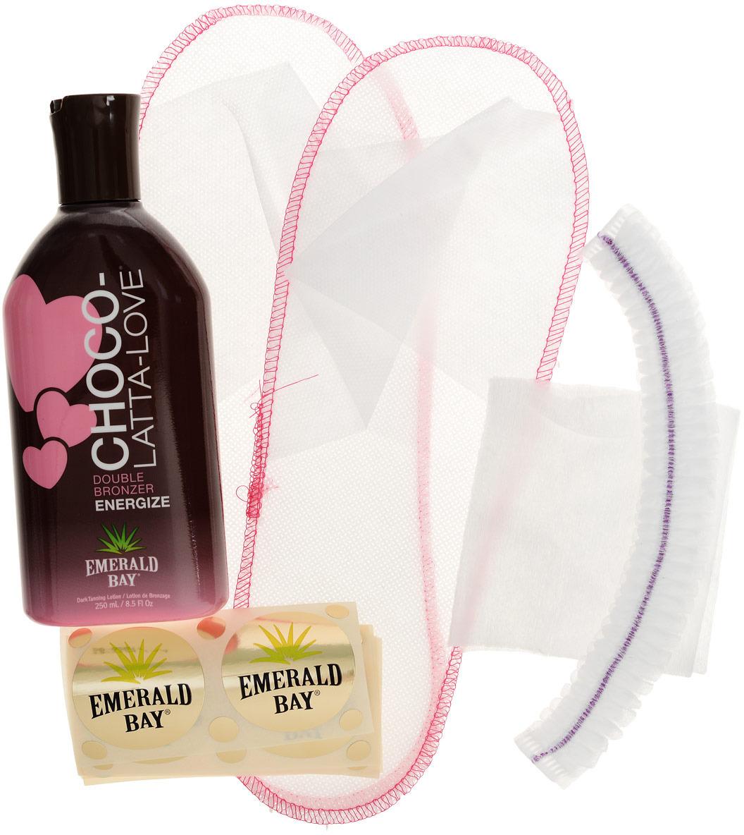 Комплект для солярия Emerald Bay Choco-Latta-Love, 250 мл крем для загара в солярии emerald bay choco latta love 15 мл х 5 шт