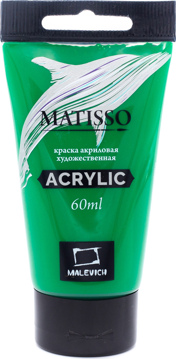 Краска акриловая Малевичъ Matisso, цвет: зеленый средний, 60 мл