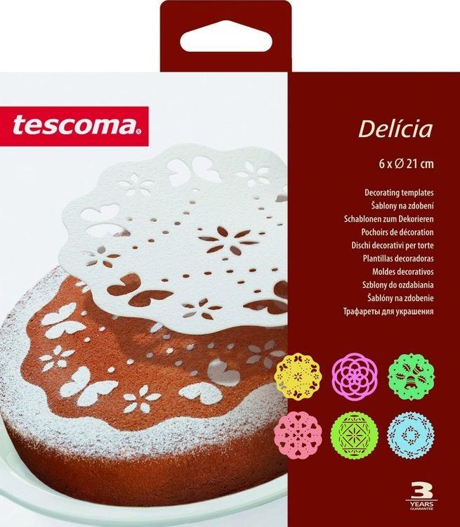Трафареты для украшения выпечки Tescoma Delicia, диаметр 21 см, 6 шт трафареты для украшения tescoma delicia 6шт 630676