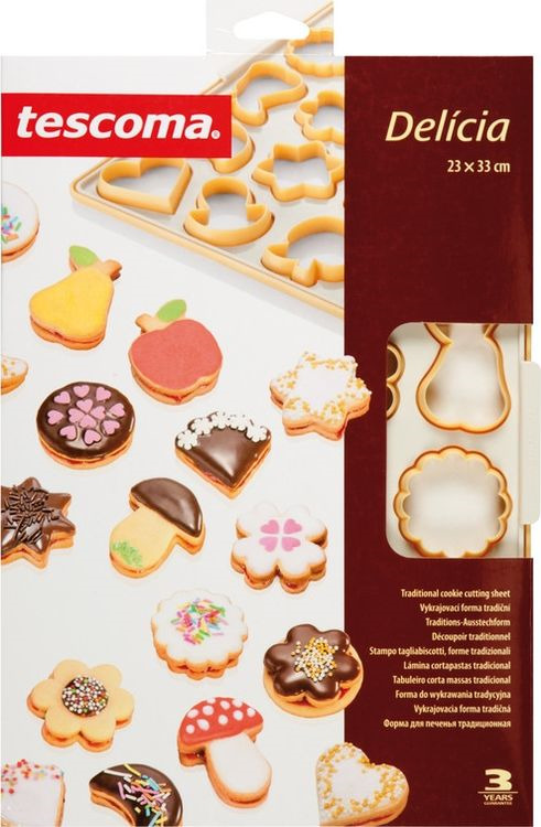 """Лист-форма для традиционного печенья Tescoma """"Delicia"""", 23 х 33 см"""
