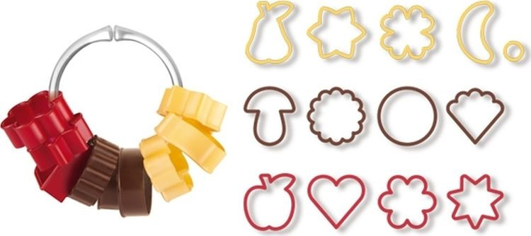 Набор традиционных форм для печенья Tescoma Delicia, 13 шт набор форм для запекания home queen диаметр 18 5 см 3 шт