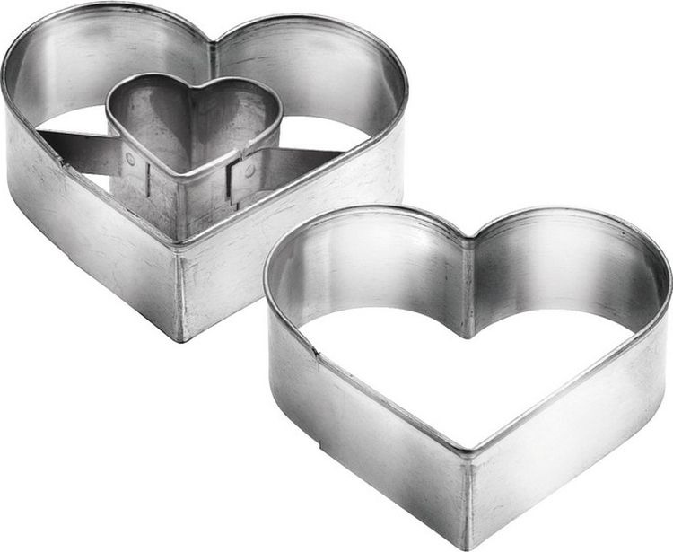 Набор формочек для выпечки Сердце, 2 шт. 631190 формочки для кекса fidget go сердце 6 шт