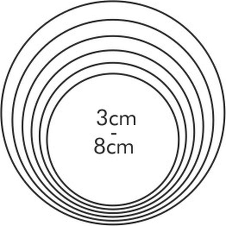 Набор формочек для выпечки Круги 6 шт 631360 .
