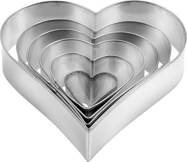 Набор формочек для выпечки Сердце, 6 шт. 631362 формочки для кекса fidget go сердце 6 шт