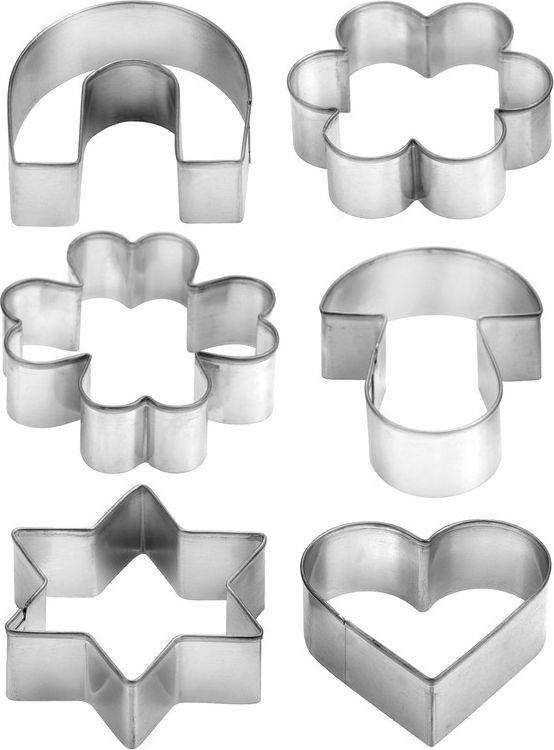 Набор формочек для выпечки Tescoma, 6 шт. 631380 набор формочек для выпечки сердце 6 шт 631362