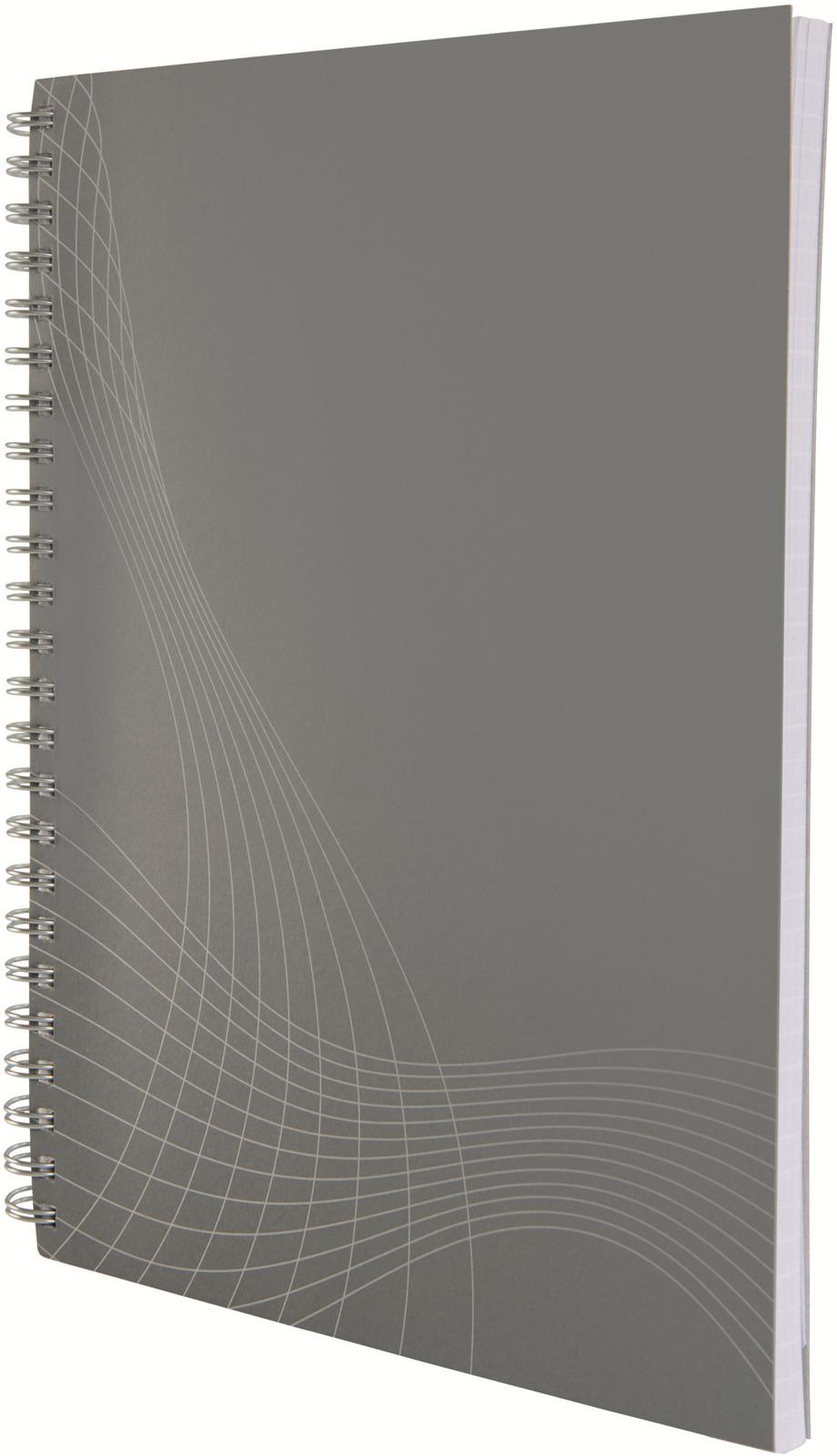 Блокнот для записей Avery Zweckfrom Notizio, А5, в клетку, цвет: серый, 80 листов