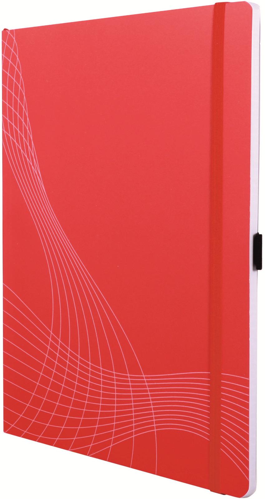 Блокнот для записей Avery Zweckform Notizio, А4, в клетку, цвет: красный, 80 листов