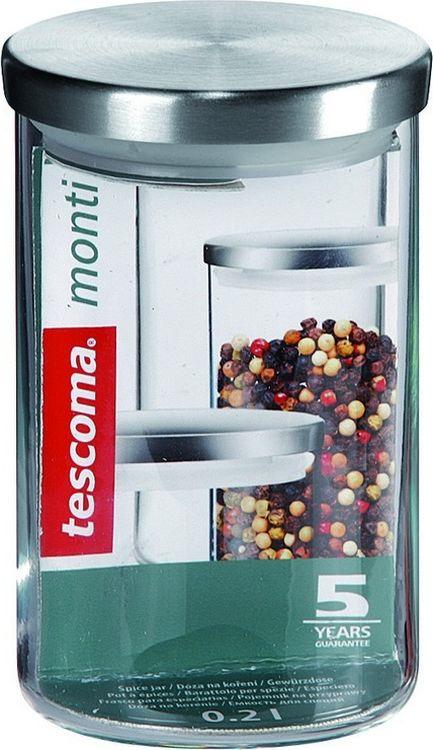 """Емкость для специй Tescoma """"Monti"""", цвет: прозрачный, металлик, 200 мл"""