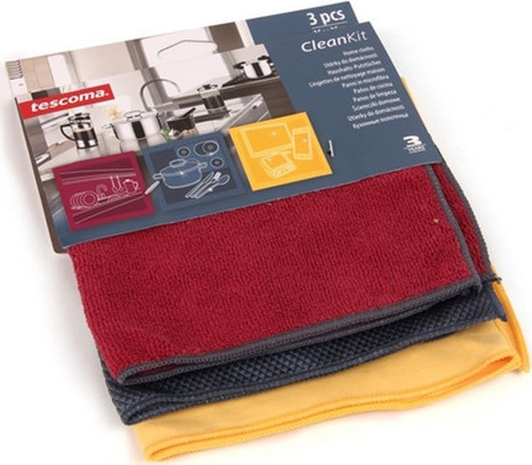 Кухонные полотенца Tescoma Clean Kit, цвет в ассортименте, 3шт. 900670 полотенца кухонные belux 200 шт
