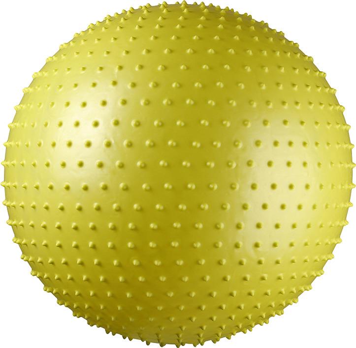 Мяч гимнастический Indigo 97404-75 IR, массажный, цвет: салатовый, диаметр 75 см мяч гимнастический indigo in001 цвет голубой диаметр 75 см
