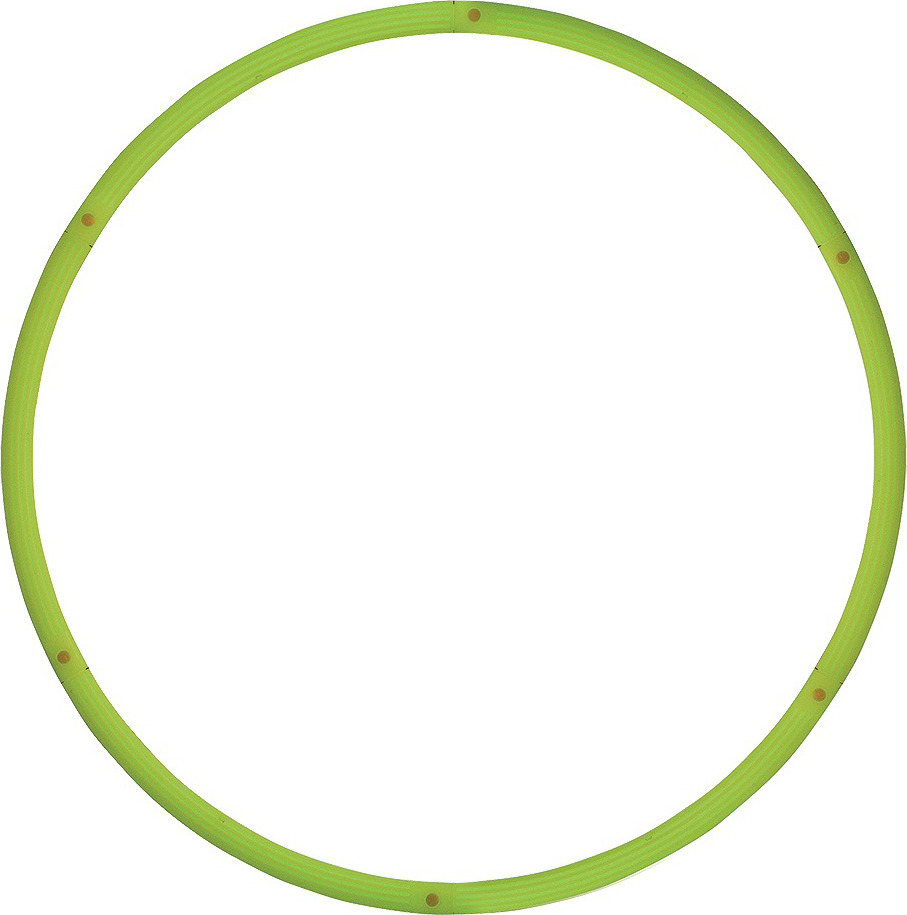 Обруч массажный Pro-Supra Neon 057-HR, разборный, цвет: зеленый, диаметр 90 см обруч массажный starfit разборный цвет синий салатовый диаметр 90 см