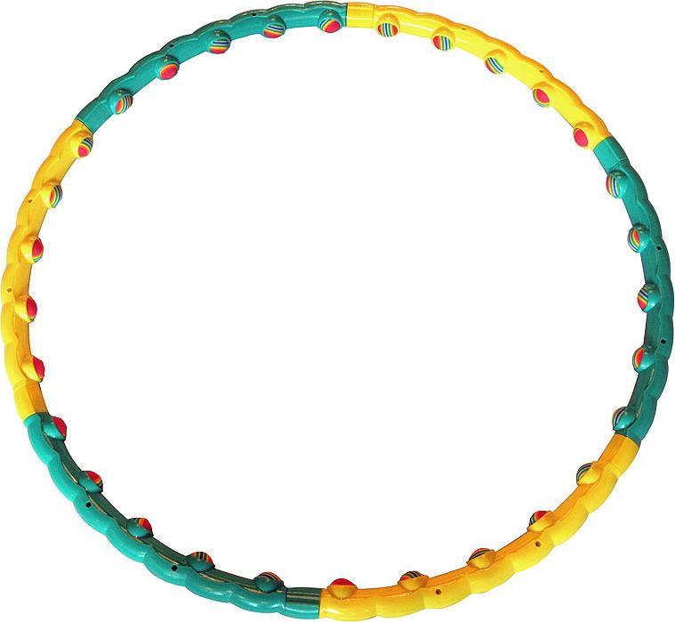 """Обруч массажный Pro-Supra """"Ideal 358 (C) SPR-HF"""", разборный, цвет: разноцветный, диаметр 90 см"""