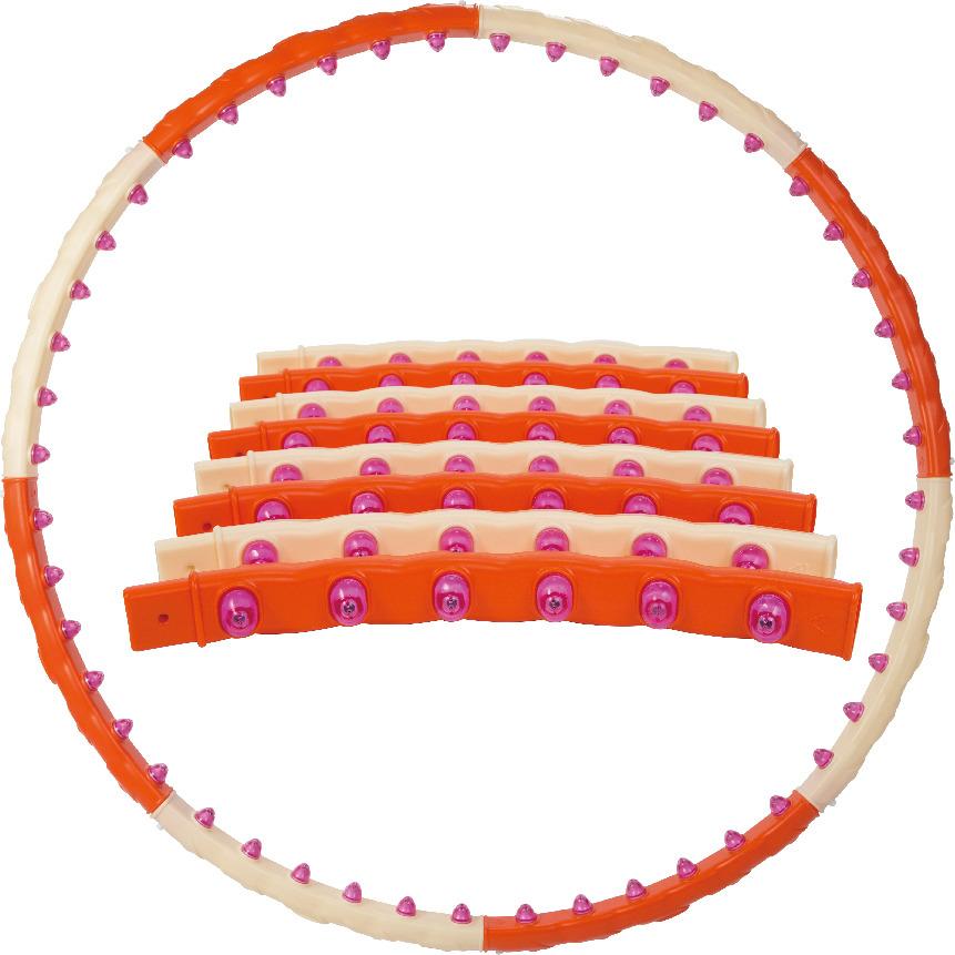 """Обруч массажный Indigo """"97384 IR"""", разборный, 8 частей, цвет: разноцветный, диаметр 108 см"""